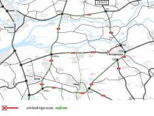 Werk aan A59 tussen Vlijmen en Empel