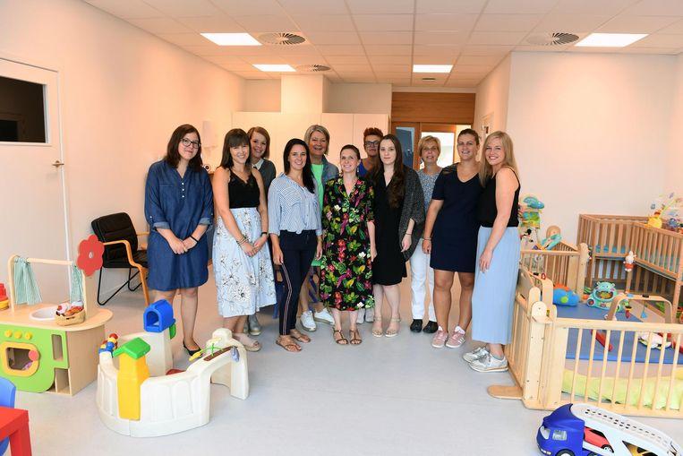 Het team van Lieverleuk in de nieuwe kinderopvang aan de Vaartkom.