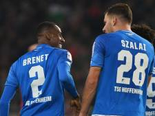 Voormalig PSV'er Brenet maakt eerste goal voor winnend Hoffenheim