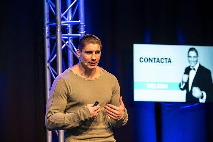 Wereldkampioen zwaargewicht boksen Rico Verhoeven was twee jaar terug spreker op de Contacta.