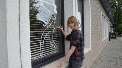 Lise fleurt gemeentelijke gebouwen op met illustraties