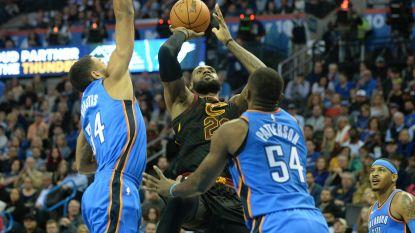 Cleveland bevestigt in Oklahoma en ziet LeBron 37 punten maken, ook Rockets maken weer indruk