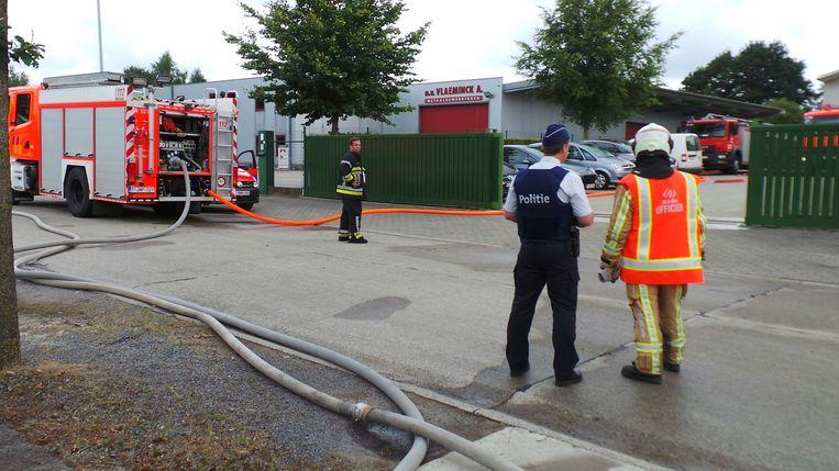 De brandweer had het brandje snel onder controle.