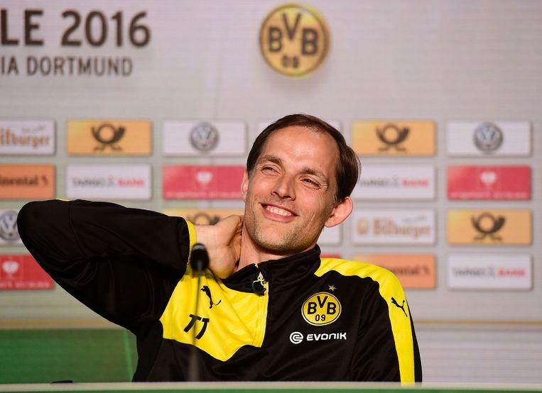 Thomas Tuchel, de trainer van Borussia Dortmund. Beeld null