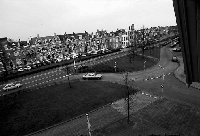 Het plein in 1994 toen het rotonde moest worden.