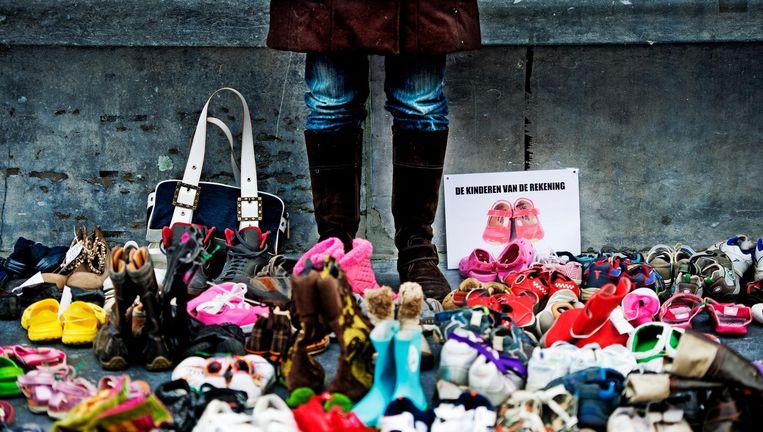 Een groot aantal kinderen in Nederland leeft volgens de organisatie in armoede. Beeld anp