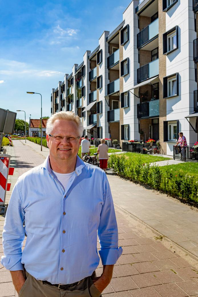 Marc van der Steen, de nieuwe bestuurder van Stadlander voor het appartementencomplex Molenweg in Steenbergen.