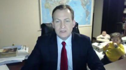 """BBC-expert die onderbroken werd door kinderen: """"Klein foutje heeft ons YouTube-sterren gemaakt"""""""