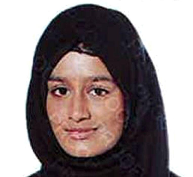 Shamima Begum op een foto van de Metropolitan Police.