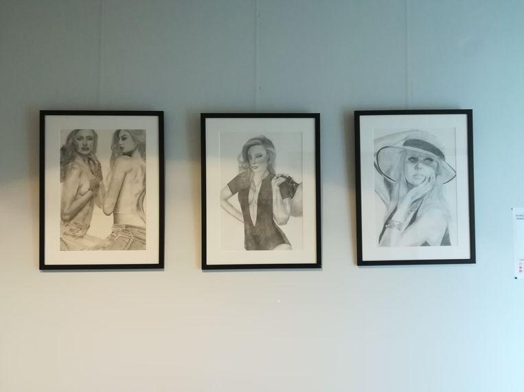GISTEL - De werken van Catharine Becue en Fauve Deconynck hangen op in het stadhuis