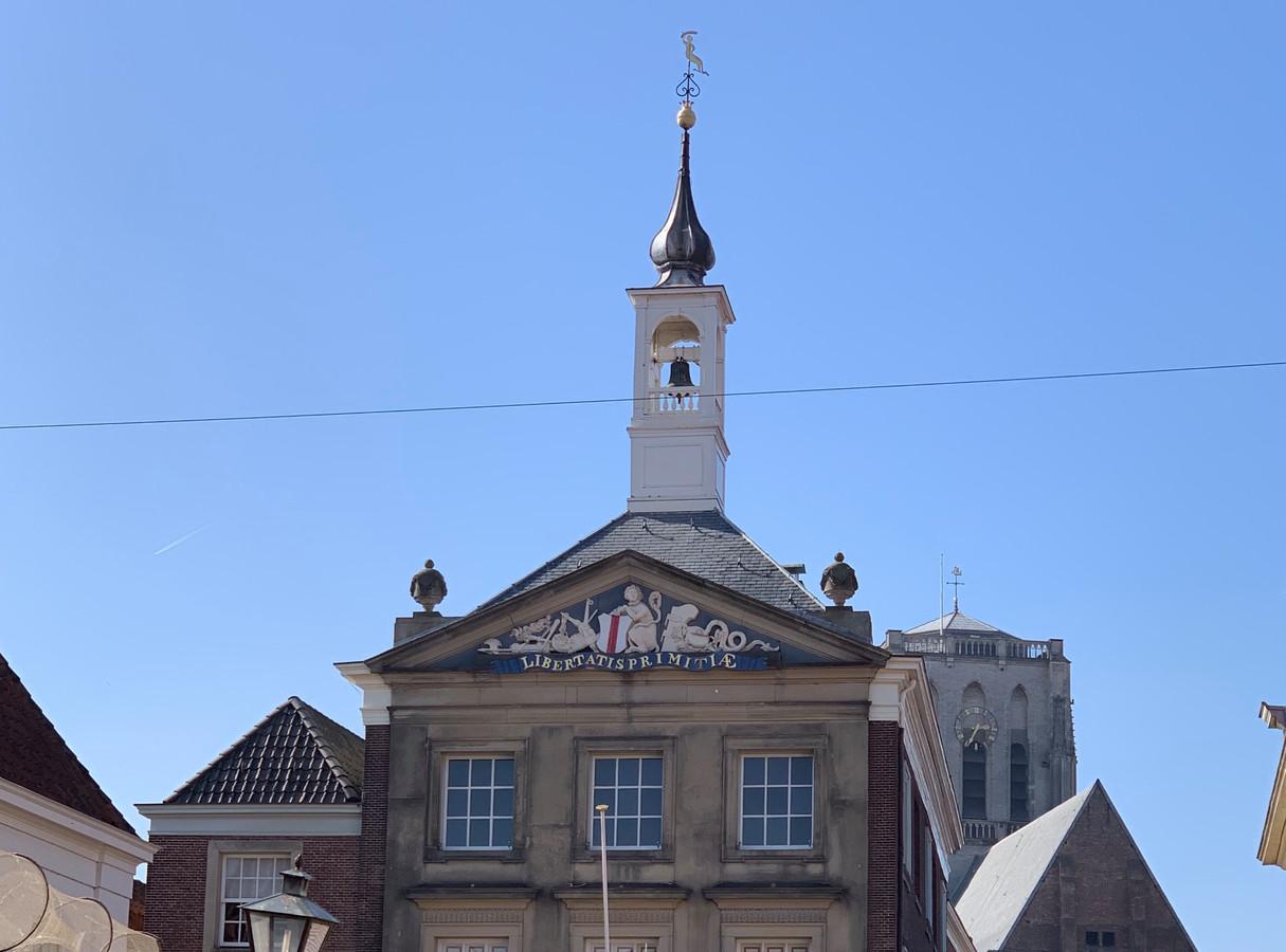 Het torentje wordt in de winter gerestaureerd.