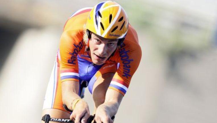 Dennis van Winden tijdens de wereldkampioenschappen wielrennen op de weg. Foto ANP Beeld