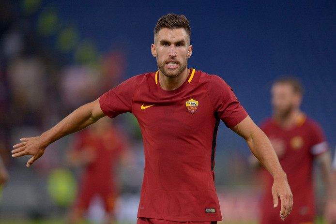 Kevin Strootman in het shirt van AS Roma.