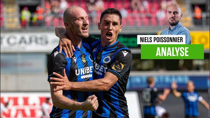 Ricca feliciteert Krmencik met zijn knappe goals aan de Gaverbeek.