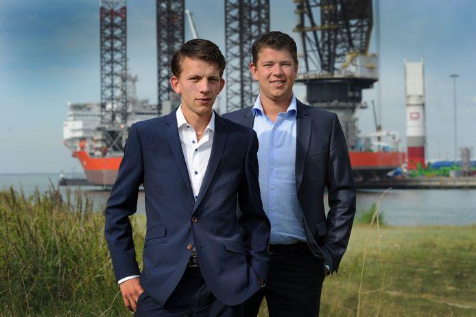 Jan (links) en Korné Walhout van Walhout Civil in Middelburg. De broers hebben met hun bedrijf een aantal jaar geleden de engineering gedaan van de controlesystemen voor het weer drijvend krijgen van de Costa Concordia.