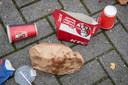 Rommel van de nieuw geopende KFC