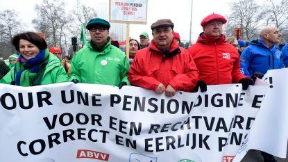 Vakbonden houden manifestatie tegen pensioenplannen op 2 oktober