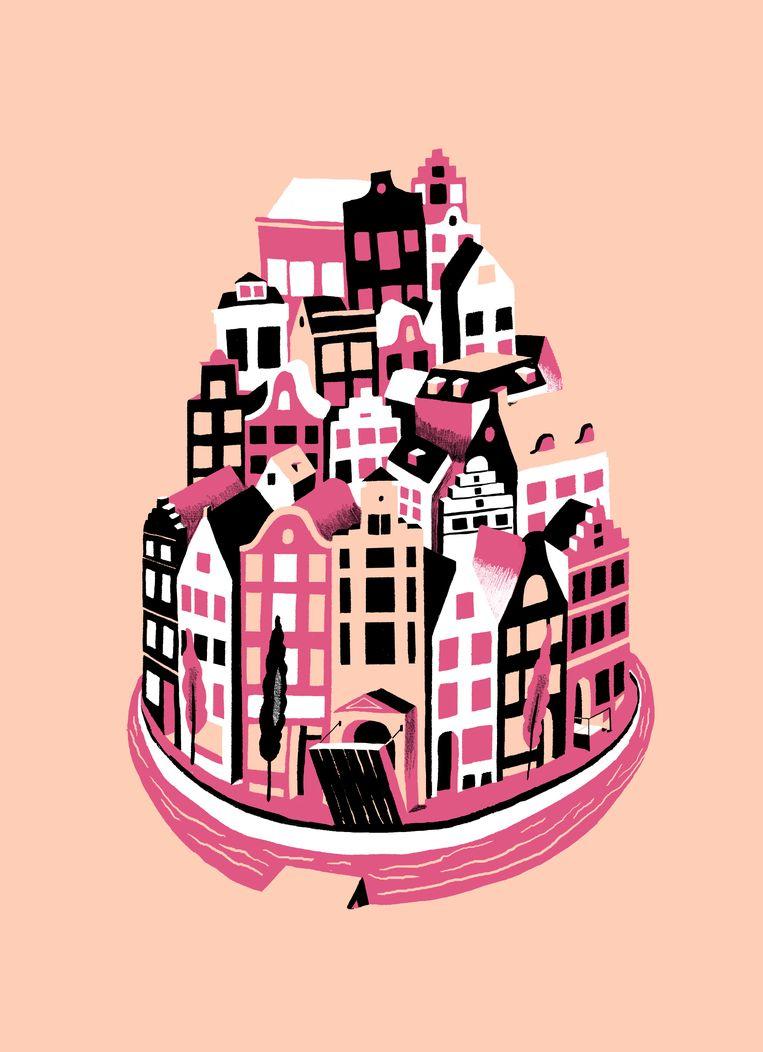 Amsterdammers mijden het overvolle centrum omdat zij het te druk vinden. Beeld Sjoerd van Leeuwen