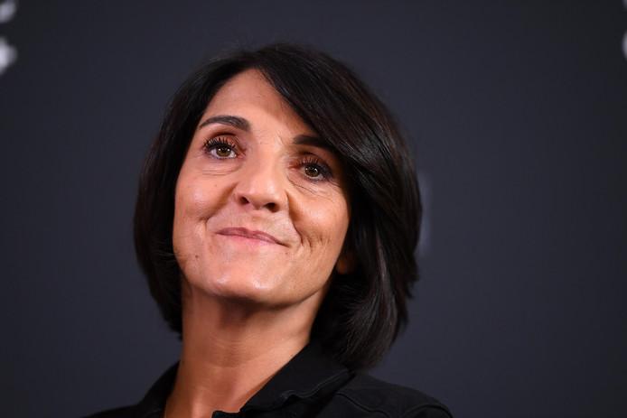 Florence Foresti, la maîtresse de la cérémonie des Césars, à la conférence de presse organisée au Fouquet's, le 29 janvier 2020.