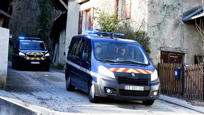 """Opération de la gendarmerie au """"Col de Marocaz"""", le 29 mars."""