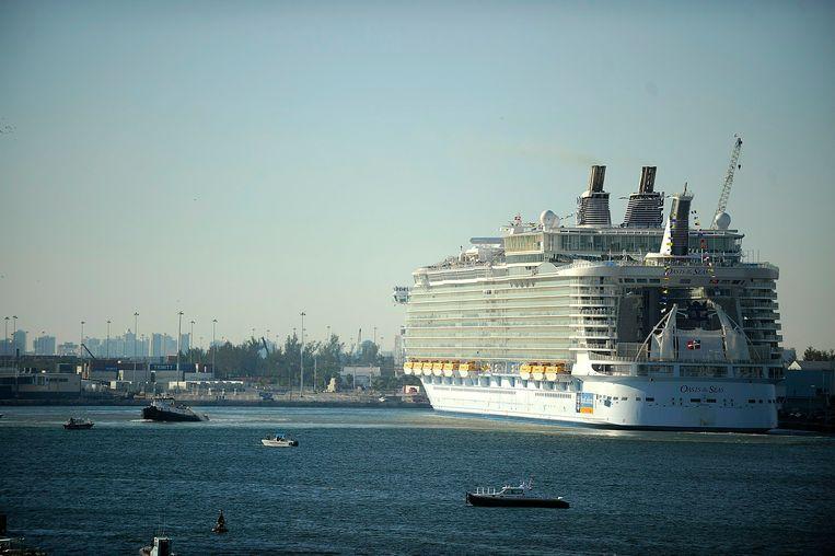 Archiefbeeld van het cruiseschip 'Oasis of the Seas'.
