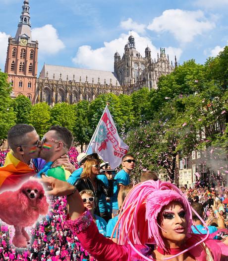 Roze viering in Sint-Jan Den Bosch begin van Roze Zaterdag