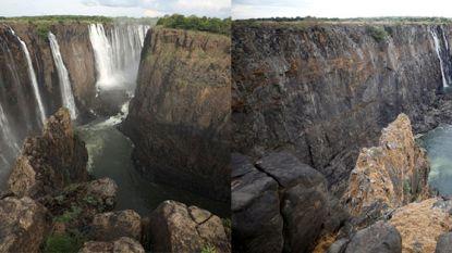 "Wereldberoemde Victoria Falls ""dreigen op te drogen"": waterpeil op laagste punt in kwarteeuw"