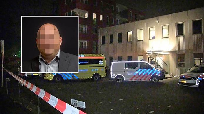 De politie doet onderzoek bij het juweliersbedrijf in Amstelveen, november 2016. Inzetje: Mischa van G.