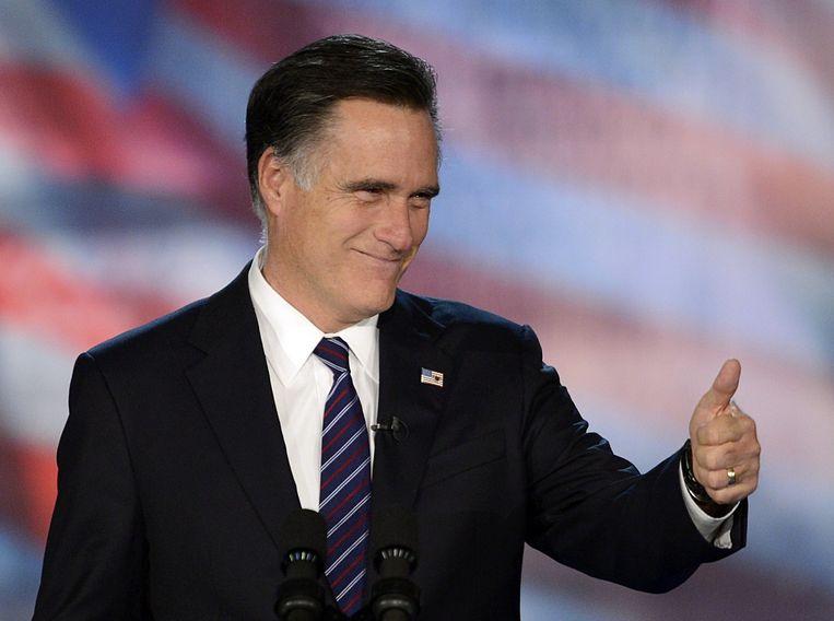 (Archiefbeeld uit 2012) Mitt Romney werd in 2012 gefinancierd door Leder Krouse. Beeld afp