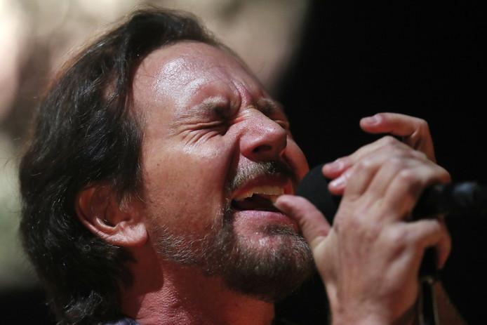 Zanger Eddie Vedder van Pearl Jam