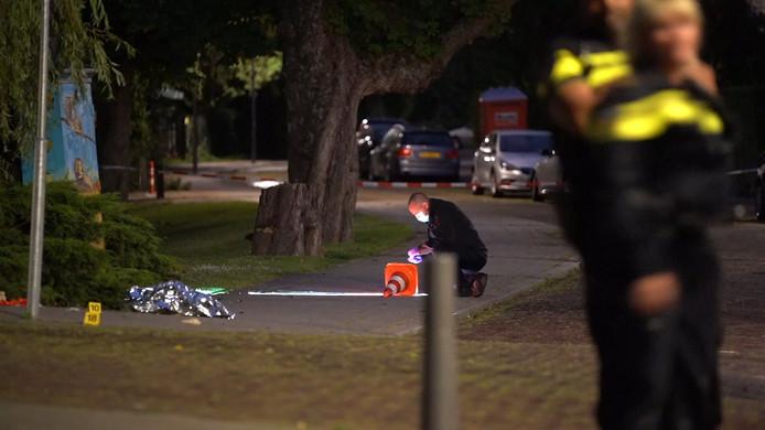 Een vechtpartij aan de chique Waldeck Pyrmontlaan in Rotterdam-Kralingen mondde zondagavond uit in  een schietpartij.