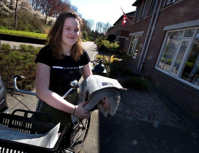 Melissa van der Klei uit Heeze heeft een coronakrant gemaakt.