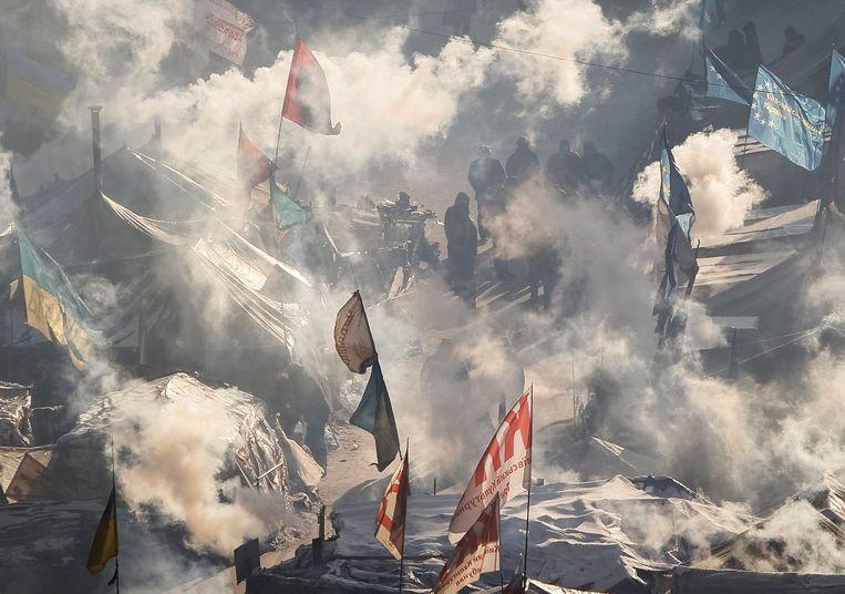 Het onafhankelijkheidsplein in Kiev vandaag. Beeld null