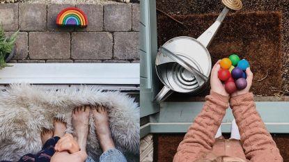 Deze prachtige stoepchallenge moedigt mensen aan om thuis te blijven