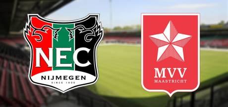 Live: NEC in De Goffert met trainer De Gier op de bank tegen MVV