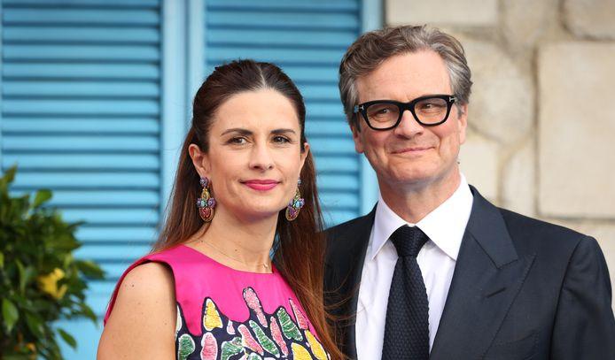 Colin Firth en zijn ex-vrouw Livia Giuggioli.