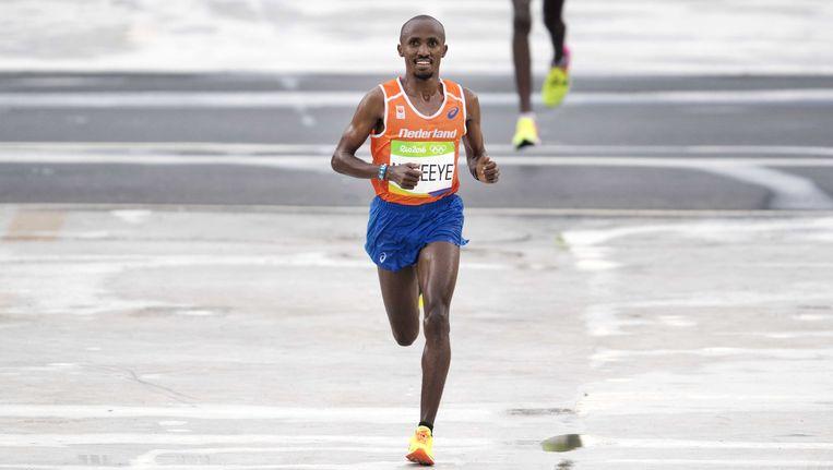 Abdi Nageeye tijdens de Olympische marathon van Rio. Beeld ANP