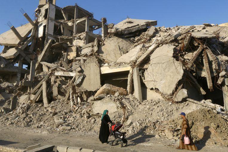 """Archiefbeeld. """"Het Russisch leger zal humanitaire hulp bieden aan de inwoners van Raqqa"""", aldus het Russisch ministerie van Defensie."""