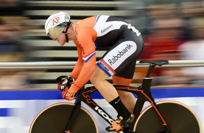 Baanwielrenner Jeffrey Hoogland uit Nijverdal werd ook gestimuleerd door het Topsport Stimulans fonds