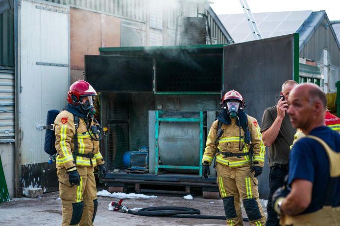 Brand bij kippenstal in Hoogeloon.