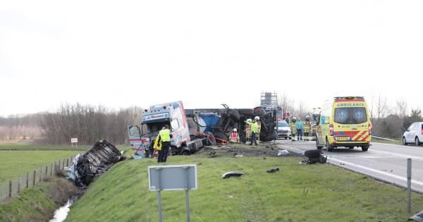 Rijkswaterstaat na omgekomen Hardenberger op 'dodenweg' N36: 'Ieder ongeval is er één te veel'.