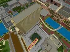 Primeur: Campus Erasmus Universiteit tot in detail nagebouwd in populair computerspel Minecraft