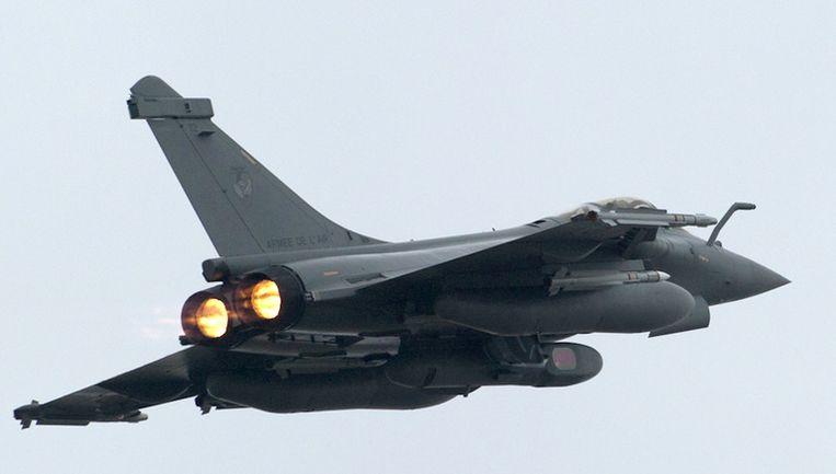 Een Rafale, de Franse tegenhanger van de F-16. Beeld ap