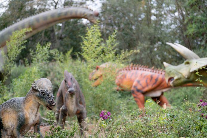 Dinopolis, een tentoonstelling rond dinosauriërs, bij Technopolis in Mechelen