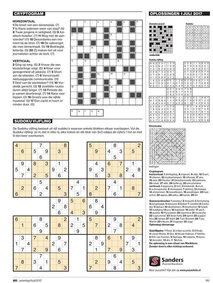 De ontbrekende puzzelpagina uit het &Magazine.
