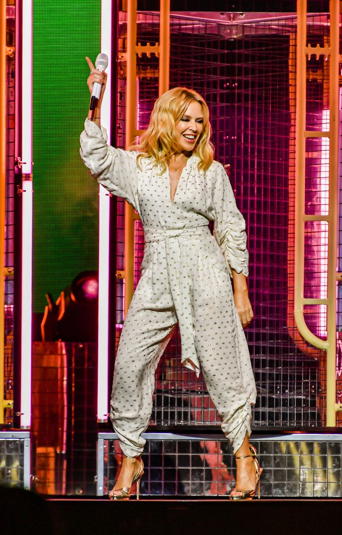 WERCHTER, BELGIUM - JUNE 28 : Kylie performing in the Barn at Rock Werchter 2019 on June 28, 2019 in Werchter, Belgium, 28/06/2019 ( Photo by Joel Hoylaerts / Photonews )