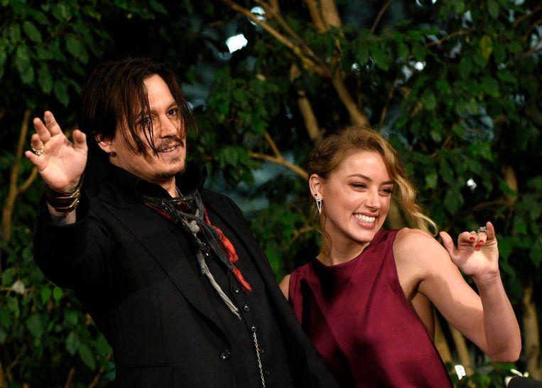 Johnny Depp en Amber Heard. Beeld anp