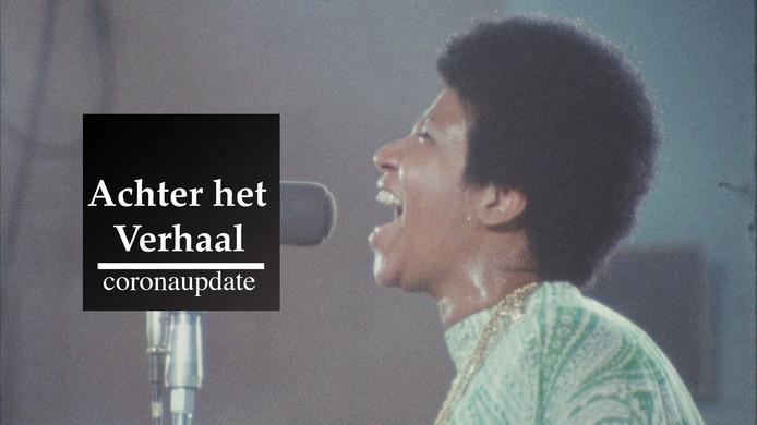 Aretha Franklin tijdens de concertregistratie van Amazing Grace