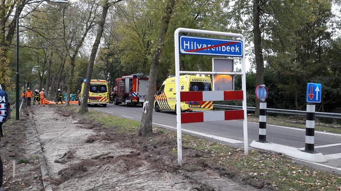 Ongeluk op Hakvoortseweg in Hilvarenbeek