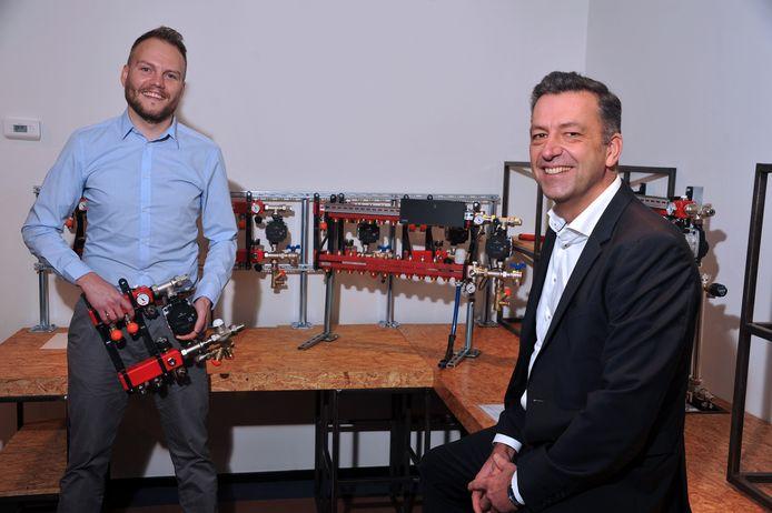"""Manager marketing en commercie Wim Dubbelman (links) en directeur Fred Verdel van WTH: ,,Wij zijn vooral bezig met mooie oplossingen bedenken."""""""